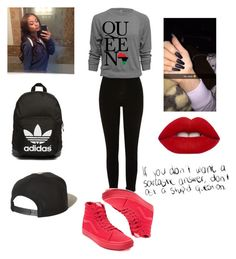 """queen ."" by qveenkyndall16 ❤ liked on Polyvore featuring Sanders, Vans, adidas Originals, Brixton and Lime Crime"
