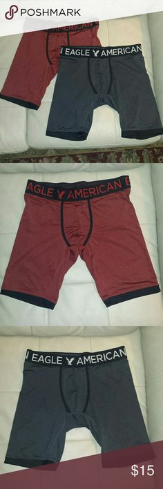 Men's American Eagle boxer briefs Sz M Men's American Eagle long boxer briefs size medium. In near mint condition. Only worn once or twice each. Comes from a smoke free home American Eagle Outfitters Underwear & Socks Boxer Briefs