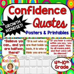 This Character Traits Quotes product focuses on CONFIDENCE (perfect for growth mindset) and includes 10 character traits quotes posters and 10 printables that correspond to each quote about confidence. Take your character education program to the next level with this easy-to-use, teacher friendly and student approved character education quotes product!