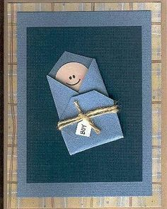 By Pumpkinhead-Congratulations/Baby Card - Two Peas in a Bucket Baby Congratulations Card, Baby Shower Invitaciones, New Baby Cards, Paper Cards, Greeting Cards Handmade, Baby Boy Cards Handmade, Kids Cards, Cute Cards, Scrapbook Cards