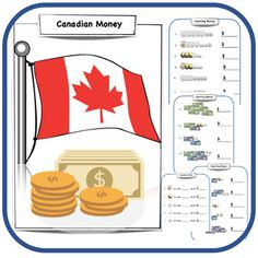 Canadian Money - 9 page money worksheets and word problems pack. - Coins identification- Coins worksheets- Money word problems 2 Sets of Boom Task Cards (41 task cards) Canadian Money - Boom Task Cards Set (28 Cards) - Perfect for identifying coins and their worth- Practice skip counting- Practice a... Identifying Coins, Money Worksheets, Have Fun Teaching, Teacher Created Resources, Skip Counting, Canadian History, Financial Literacy, Elementary Math, Word Problems