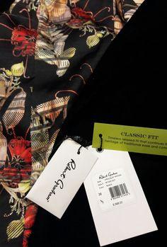 Robert Graham Mens Black Velvet Blazer Sport Coat Jacket Red Kirkcaldy $598 38 R #RobertGraham #TwoButton