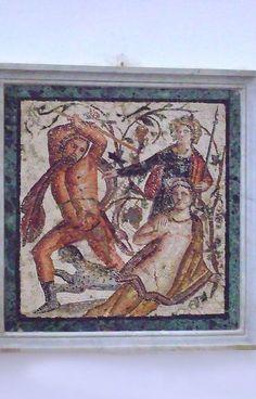 Mosaic Roman 1st century CE Pompeii by mharrsch, via Flickr