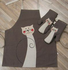 Easy Sewing Projects, Sewing Hacks, Sewing Crafts, Sewing For Kids, Free Sewing, Fabric Christmas Trees, Childrens Aprons, No Sew Curtains, Cute Aprons