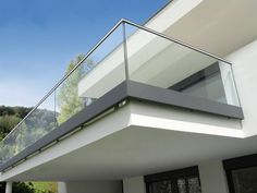 50 Incredible Glass Railing Design for Home Blacony 43 - All About Balcony Balcony Glass Design, Glass Balcony Railing, Balcony Grill, Balcony Railing Design, Deck Railings, Fence Design, Steel Railing Design, Iron Railings, Iron Balcony