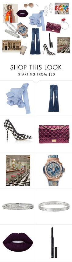 """Chic freak"" by maria-chamourlidou ❤ liked on Polyvore featuring Johanna Ortiz, 3x1, Dolce&Gabbana, Chanel, Parlor, Hublot, Harry Winston, Cartier, Lime Crime and Christian Dior"
