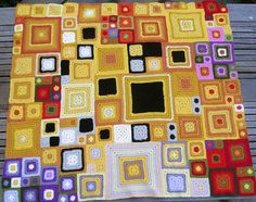 Klimt-inspired babette blanket - this really makes me want to seriously learn to crochet.