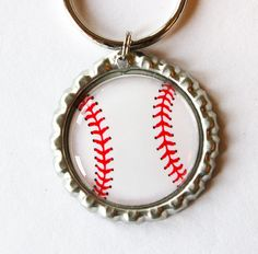 baseball key chain, key chain, key ring, gift for him, sports, baseball fan, baseball keychain, baseball (1730)