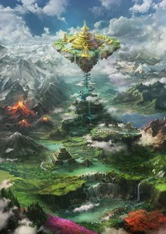 When Yggdrasyl ended Momonga wasn't the only one of the guild Ainz Oo… # Fantezie # amreading # books # wattpad Fantasy City, Fantasy Places, Dark Fantasy, Fantasy World Map, Fantasy Concept Art, Fantasy Artwork, Fantasy Art Landscapes, Landscape Art, Fantasy Setting
