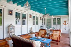 Just love this porch...so inviting. House of Turquoise: RS Custom Homes