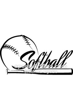 Free Printable Softball Silhouette Clip Art Download