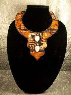 African Print Necklace. $24.99, via Etsy.