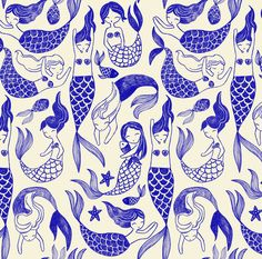 Mermaid Pattern for Tea Collection
