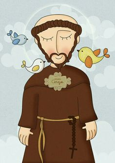Francis of Assisi Ste Claire, St Francisco, St Clare's, Francis Of Assisi, Arte Popular, Sacred Art, Religious Art, Christianity, Folk Art