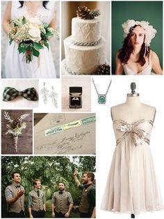 Emerald Green Christmas Wedding Inspiration Board