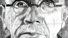 Art Ed Central lovves: How to use the Grid Method with a Drawing of Chuck Close as an Example