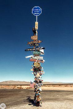 ˚Desert Sign - Parker, Arizona