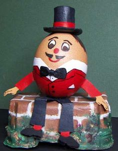 humpty dumpty easter egg free printables | Humpty Dumpty is sitting on the wall April 11th, 2007