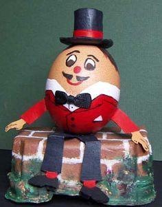 Humpty Dumpty is sitting on the wall Plastic Easter Eggs, Easter Egg Crafts, Easter Art, Easter Ideas, Easter Egg Competition Ideas, Easter Egg Designs, Humpty Dumpty, Egg Art, Egg Decorating