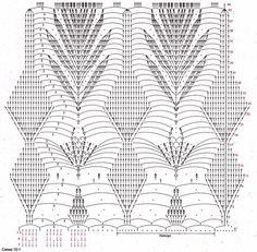 Crochet Doily Diagram, Crochet Borders, Crochet Motif, Crochet Doilies, Crochet Stitches, Crochet Lace, Crochet Patterns, Crochet Skirts, Crochet Blouse