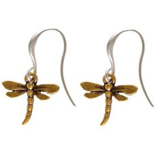 Summer Hultquist Jewellery Dragonfly Earrings £15.99 http://www.lizzielane.com/product/hultquist-jewellery-dragonfly-bi-colour-hook-earrings/