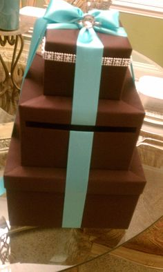 Tiffany Blue and Brown Wish Box