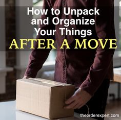 Have you recently moved to a new apartment, house or dorm room? Wondering what to tackle first when it comes to unpacking and organizing your belongings? Here are a few quick tips to keep in mind when it comes to unpacking your things after a move. Moving Home, Moving Day, Moving Tips, Moving Hacks, Unpacking After Moving, Unpacking Tips, Getting Organized At Home, Getting Rid Of Clutter, Organisation Hacks