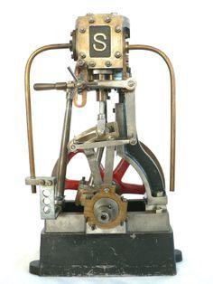 Stuart vertical steam engine model