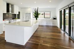 Wood flooring is a healthy choice. Doctors recommend hardwood floors like oak floors as a way to help dust allergies and control animals. Home, Elegant Interiors, Kitchen Design, Hardwood Floors, Best Kitchen Designs, Kitchen Interior, Timber Flooring, Floor Design, Old Home Remodel