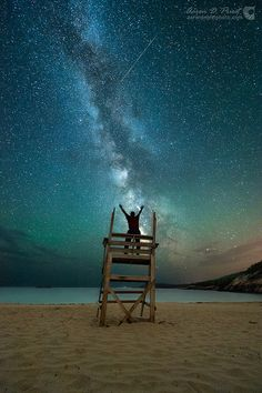 Milky Way Symphony - Sand Beach, Acadia National Park, Maine (1 July 2014) photograph by Aaron Priest