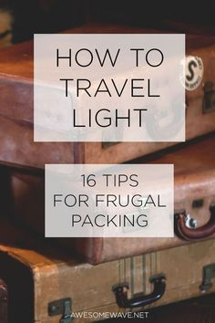 awesome HOW TO TRAVEL LIGHT – The best thing about travelling light is you have flexibility, freedom and a whole lot of less hassle. 16 tips on how to travel light and efficiently. CONTINUE READING Shared by: Packing List For Travel, Packing Tips, Travel Tips, Travel Hacks, Travel Ideas, Travel Stuff, Vacation Packing, Vacation Ideas, Travel Checklist
