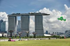 The Marina Bay Sands hotel resorts in Singapore.