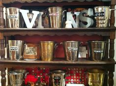 Antique champagne buckets on display in Hautvillers