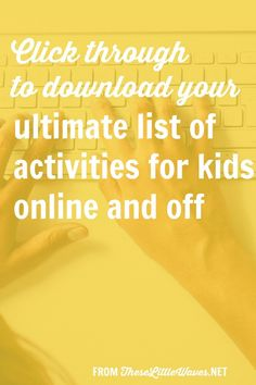 The Ultimate List Of Activities For Kids Online And Off Anti Bullying Activities, Bullying Lessons, School Age Activities, List Of Activities, Internet Safety For Kids, Minding My Own Business, Kids Online, Teaching Kids, Elementary Schools
