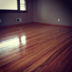 Red oak hardwood floor refinished by Arne's Floor Sanding   http://www.arnesfloorsanding.com