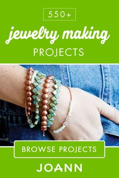 If you're looking to add a new handmade piece to your jewelry box, check out this list of 550+ Jewelry Making Projects from JOANN! There's plenty of beautiful options like How To Make A Seaside Charm Bracelet, DIY Wood Bead Dangle Earrings, and handmade Pearl Necklaces.