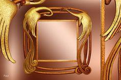 Zrcadlo Pávi 2009, š: 80 x v: 80 cm, dřevo bukové, namořené , pozlacené, vosková patina