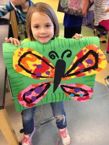 Eric Carle warm/cool butterfly