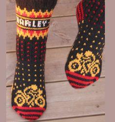 Dagens kjøpeoppskrift: Motorsykkel-sokker | Strikkeoppskrift.com