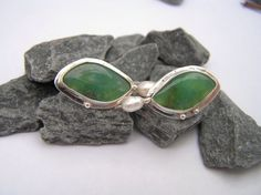 Chrysoprase and Freshwater Pearl in Argentium silver- Etsy  $82.00