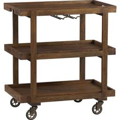 CollinsBarCart3QS13 - place a bar cart in the bar area? Store in nook but can be moved around space for entertaining.