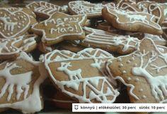 Startlap - www. Gingerbread Decorations, Gingerbread Cookies, Xmas Food, Christmas Baking, Cookie Recipes, Dessert Recipes, Xmas Dinner, Hungarian Recipes, Breakfast Recipes