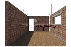 Paredes: você sabe o que é alvenaria de vedação? Concrete Building Blocks, Garage Doors, Stairs, Outdoor Decor, Home Decor, Glass Walls, Plaster, Modern Architecture, Windows