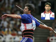 Javelin thrower Jan Železný, multiple titles holders, World champions and Olympic Gold medals winners He is ranked ranked the best in the world of all time, keeping world records in this discipline (since Javelin Throw, Gold Medal Winners, Famous Sports, Olympic Gold Medals, Sports Personality, Sports Complex, Summer Olympics, Track And Field, Esports