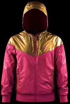 pink and gold Nike jacket