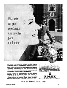 1962 French Rolex Ad Mercedes 300SL Gullwing