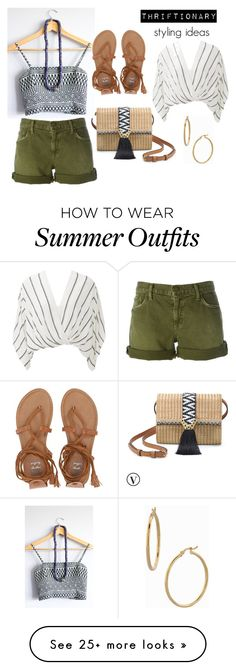 """""""Summer outfit"""" by mandajenae on Polyvore featuring Stella & Dot, Current/Elliott, Billabong, Free People and Bony Levy"""