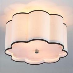 Flower Drum Shade Ceiling Light