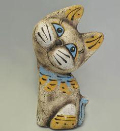 Глиняные статуэтки и фигурки. 31 фото.. Обсуждение на LiveInternet - Российский Сервис Онлайн-Дневников Paper Mache Animals, Clay Animals, Clay Cats, Ceramic Angels, Cat Doll, Clay Figures, Cat Crafts, Polymer Clay Crafts, Clay Projects