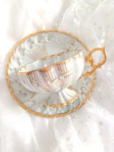 Royal Sealy .... ♥♥ ....china footed teacup and saucer